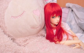 Lovely Red Hair Doll