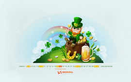 Saint Patricks Day Calendar