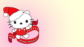 Happy Holidays Hello Kitty