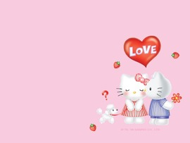 Hello Kitty Characters Background