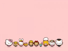 Hello Kitty Characters Backgrounds