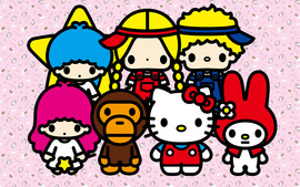 Hello Kitty Characters Wallpaper