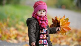 Autumn Leaves Child