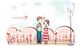 Cartoon Love Photo