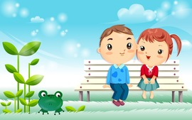 Love Cartoon Background