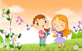 Love Cartoon Backgrounds