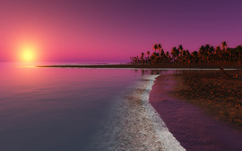 Pink Landscape Desktop Backgrounds