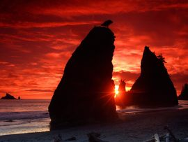 Sea Stacks Knife A Blood Red Sky