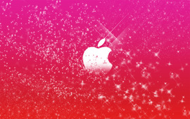Apple Logo In Pink Glitters