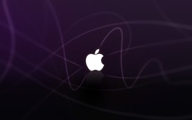 Apple Logo Purple Waves