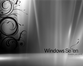 Windows 7 Black White