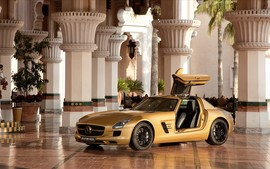2010 Mercedes Benz Sls Amg Desert Gold Wallpapers