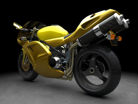 Yellow Sports Bike