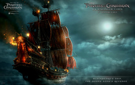 Blackbeards Ship In Pirates Of The Caribbean