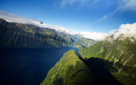 Fjord In New Zealand