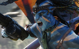 Jake Sully In War Avatar Movie