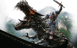 Optimus Prime On Dinobot