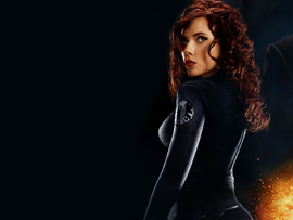 Scarlett Johansson As Black Widow In Iron Man