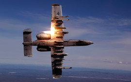 A 10 Thunderbolt Ii During Live Fire Training