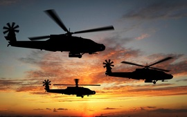 Boeing Apache Attack Helicopters