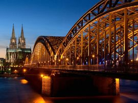 Cathedral Hohenzollern Bridge Germany