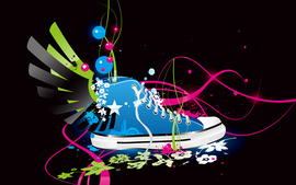 Colorful Vector ShoeWide
