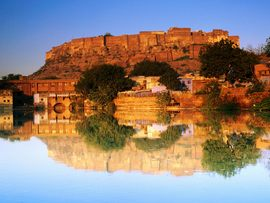 Fort Reflected Sunset India