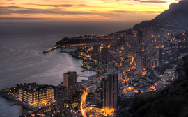 Monaco In Twilight