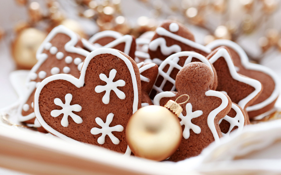 Christmas Cookies Computer Wallpaper
