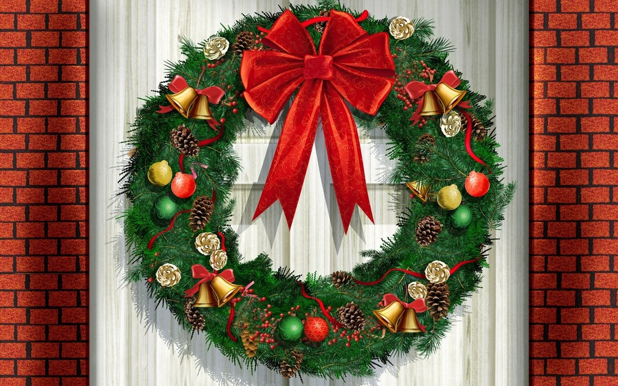 Christmas Wreaths Free Wallpapers