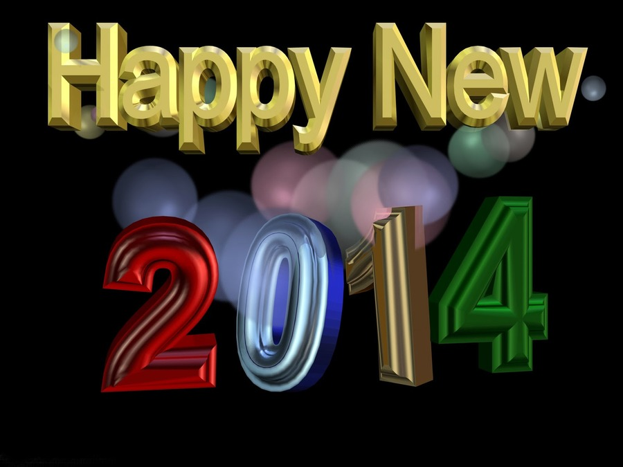 Happy New Year 2014 Wide Wallpaper