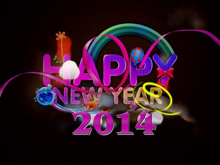 Happy New Year 2014 Widescreen