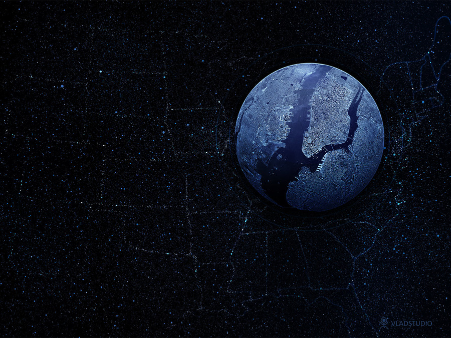 Earth Black Wallpaper