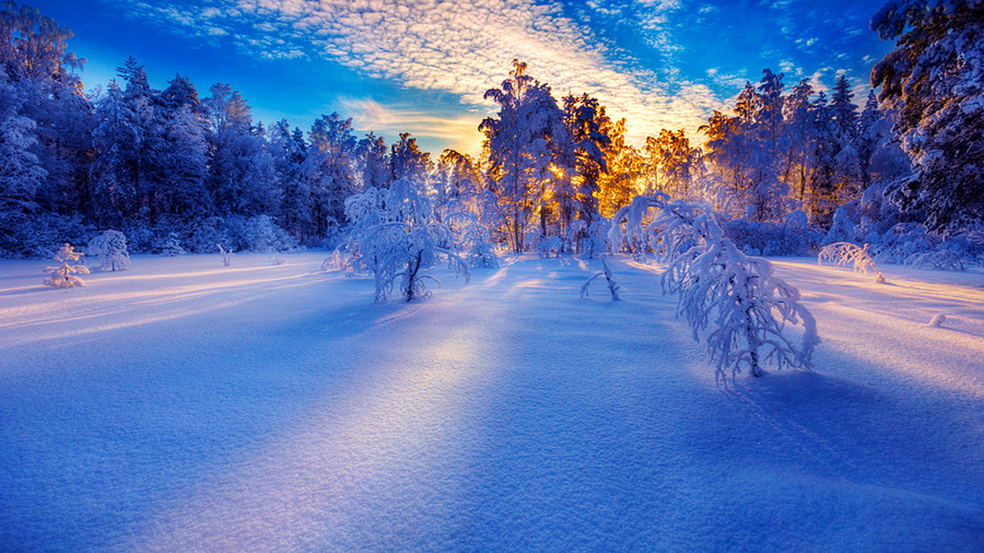 Snow Sunrise - Wallpaper, High Definition, High Quality ...