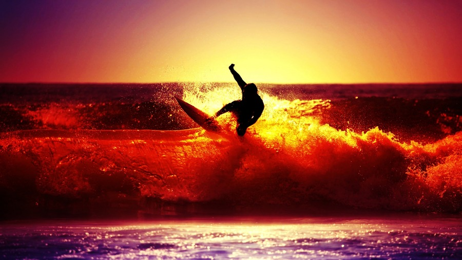 Surfing High Definition Wallpaper