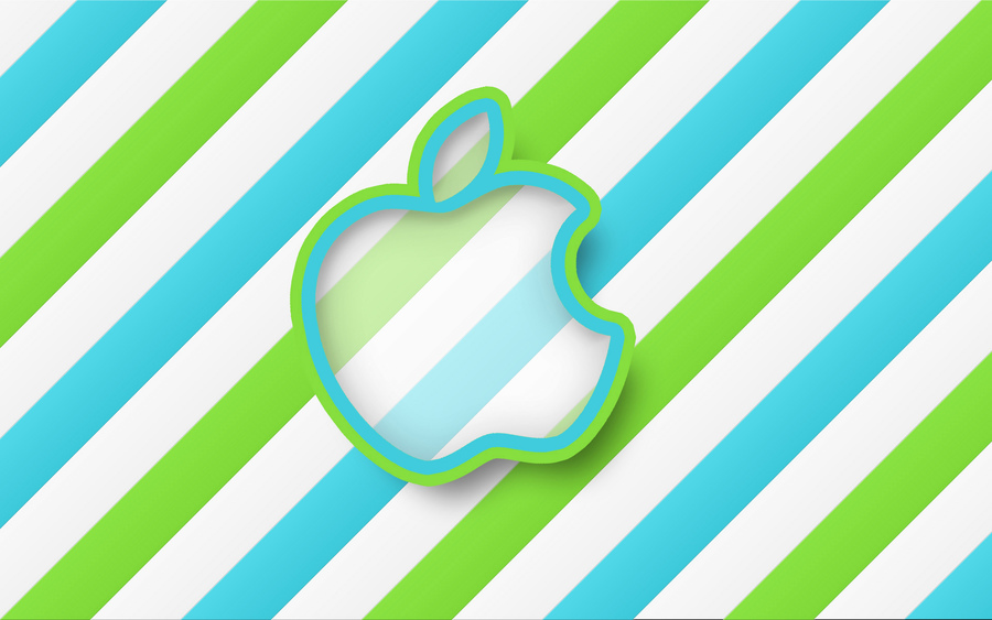 Green Stripes Apple