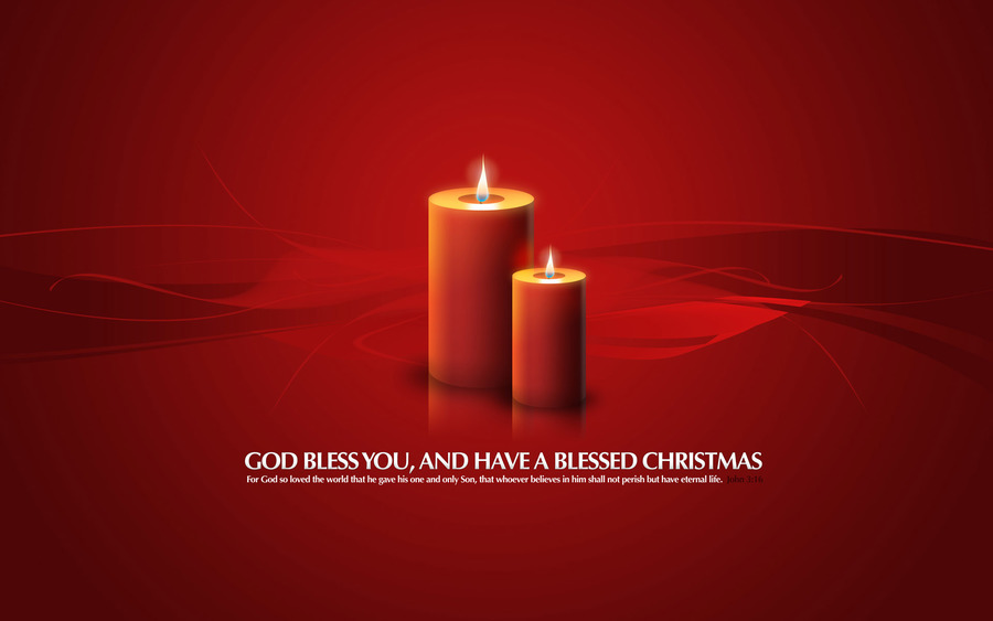 Christmas Candles God Bless You
