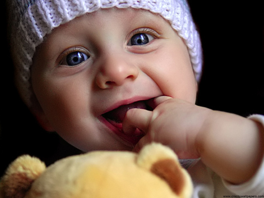 Cute Baby Playing Doll