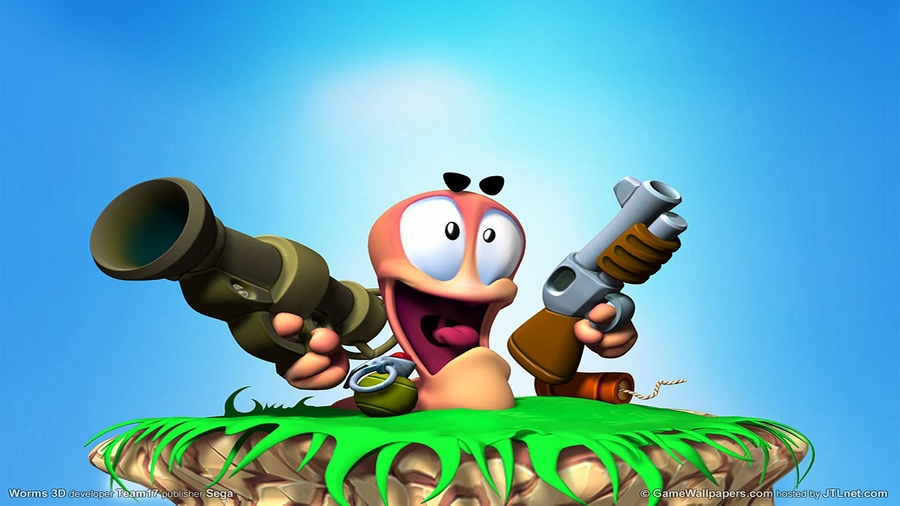 Worms Sega Blue Game
