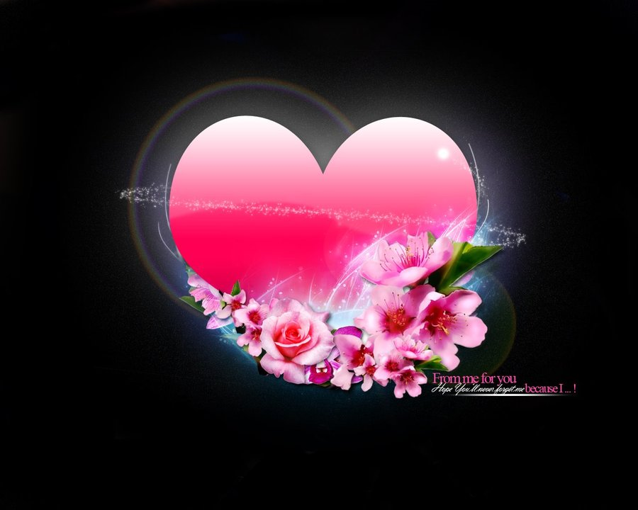 Heart Flowers Wallpaper