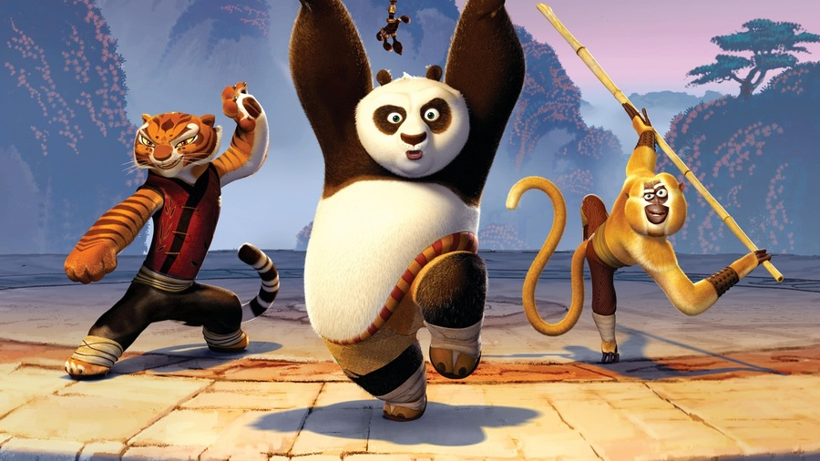 Kung Fu Tigress Panda Monkey