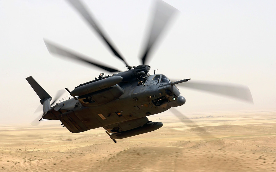A Us Air Force Usaf Mh 53m Pave Low Iv Helicopter