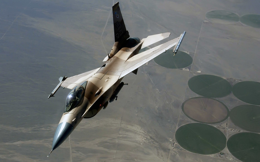 An F 16 Fighting Falcon During A Red Flag Exercise