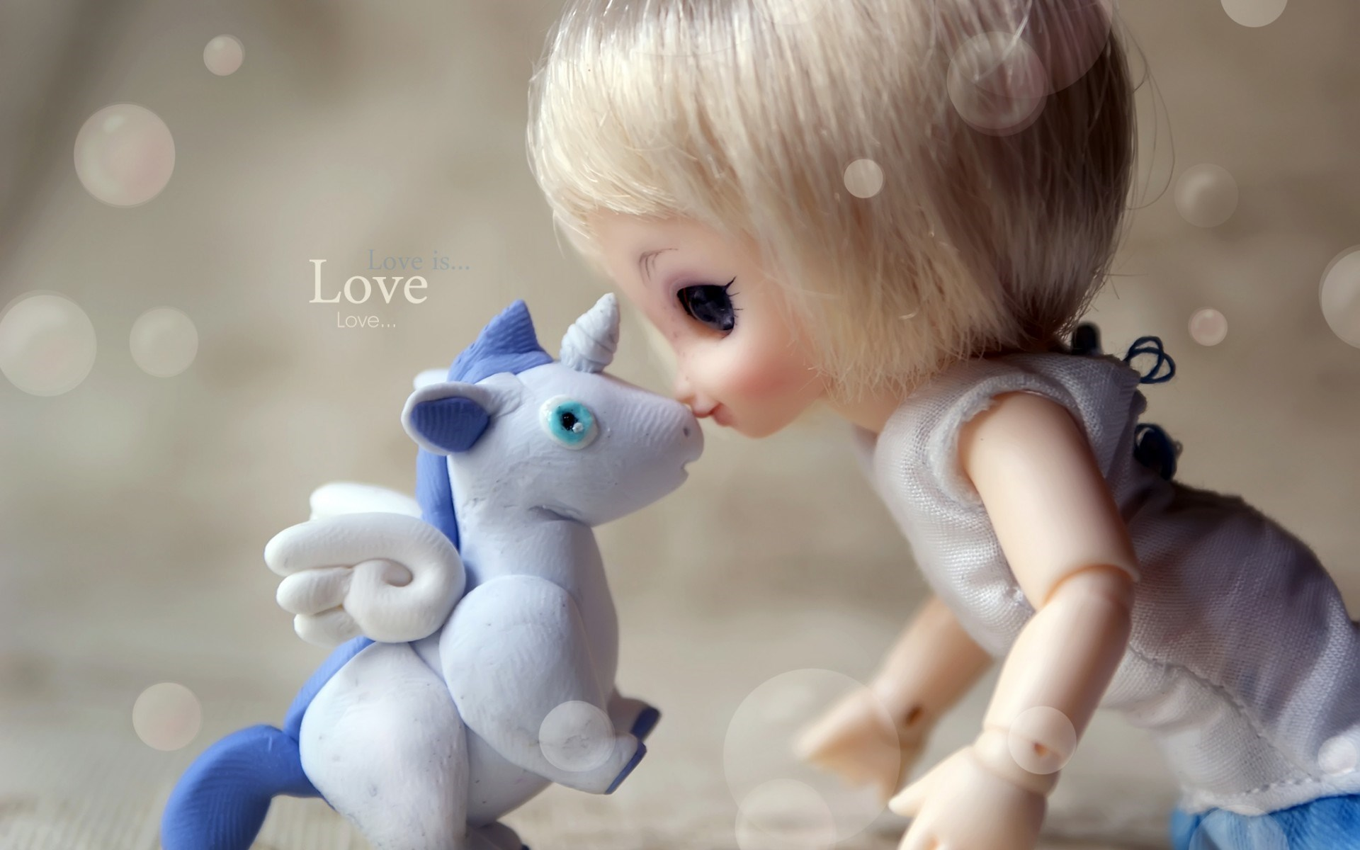 baby doll kiss unicorn wallpaper - wallpaper, high definition, high