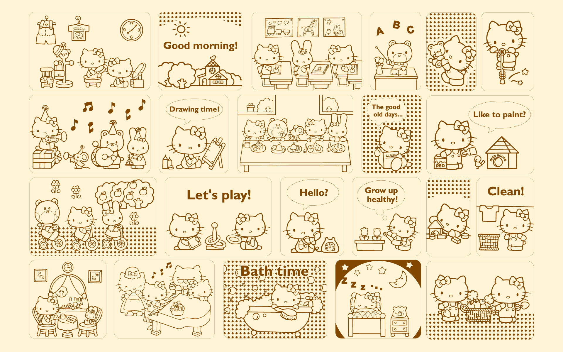 Great Wallpaper Hello Kitty Laptop - hello-kitty-characters-funny_034535  Perfect Image Reference_494645.jpg