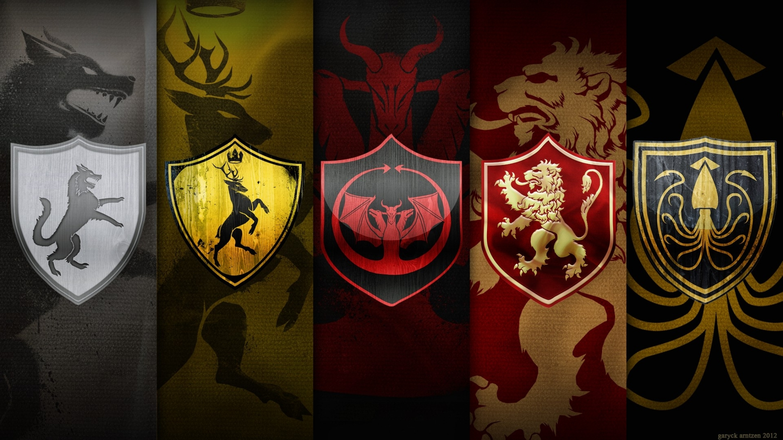 Game Of Thrones Great Houses Wallpaper High Definition