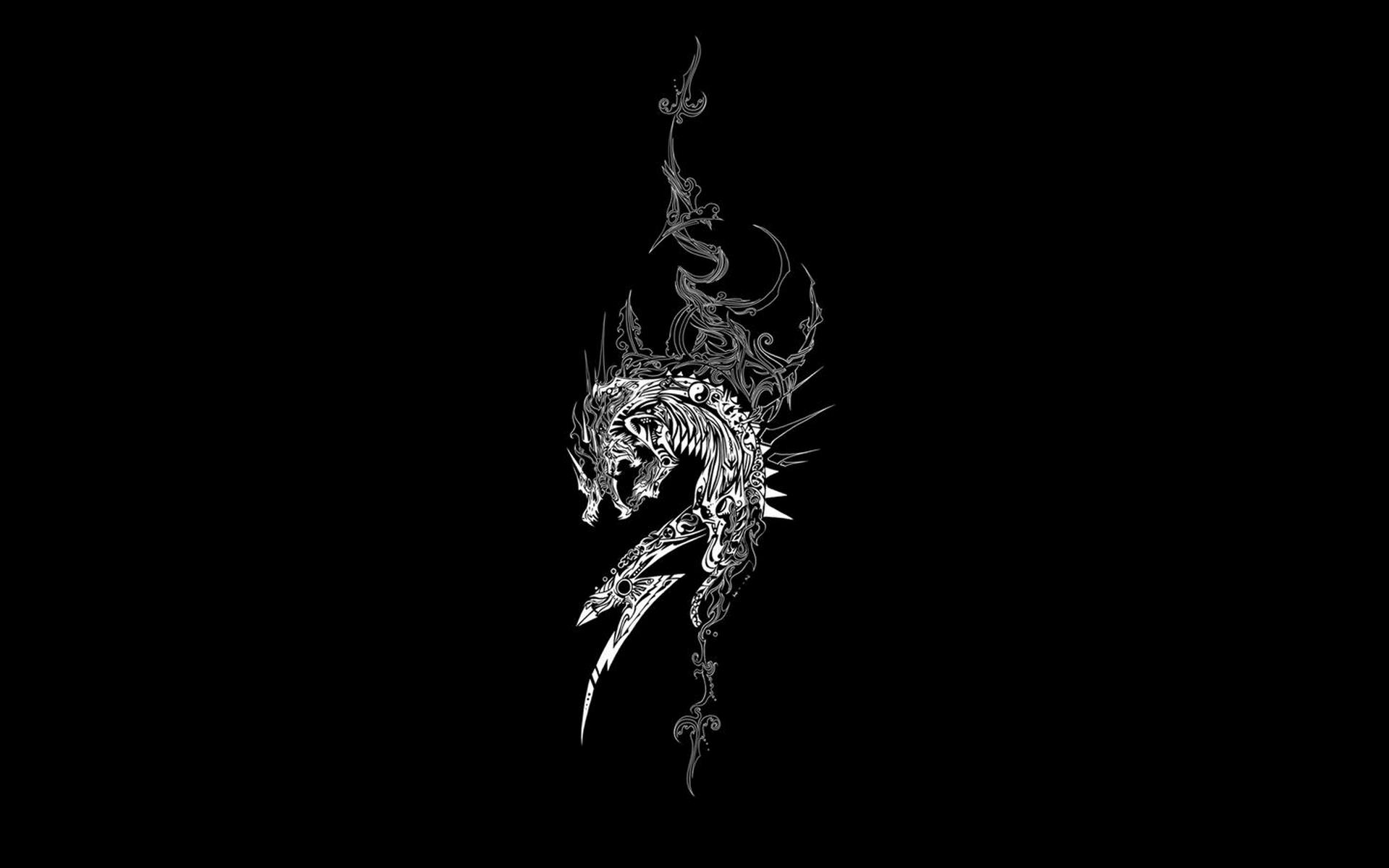 Dragon Black Wallpaper