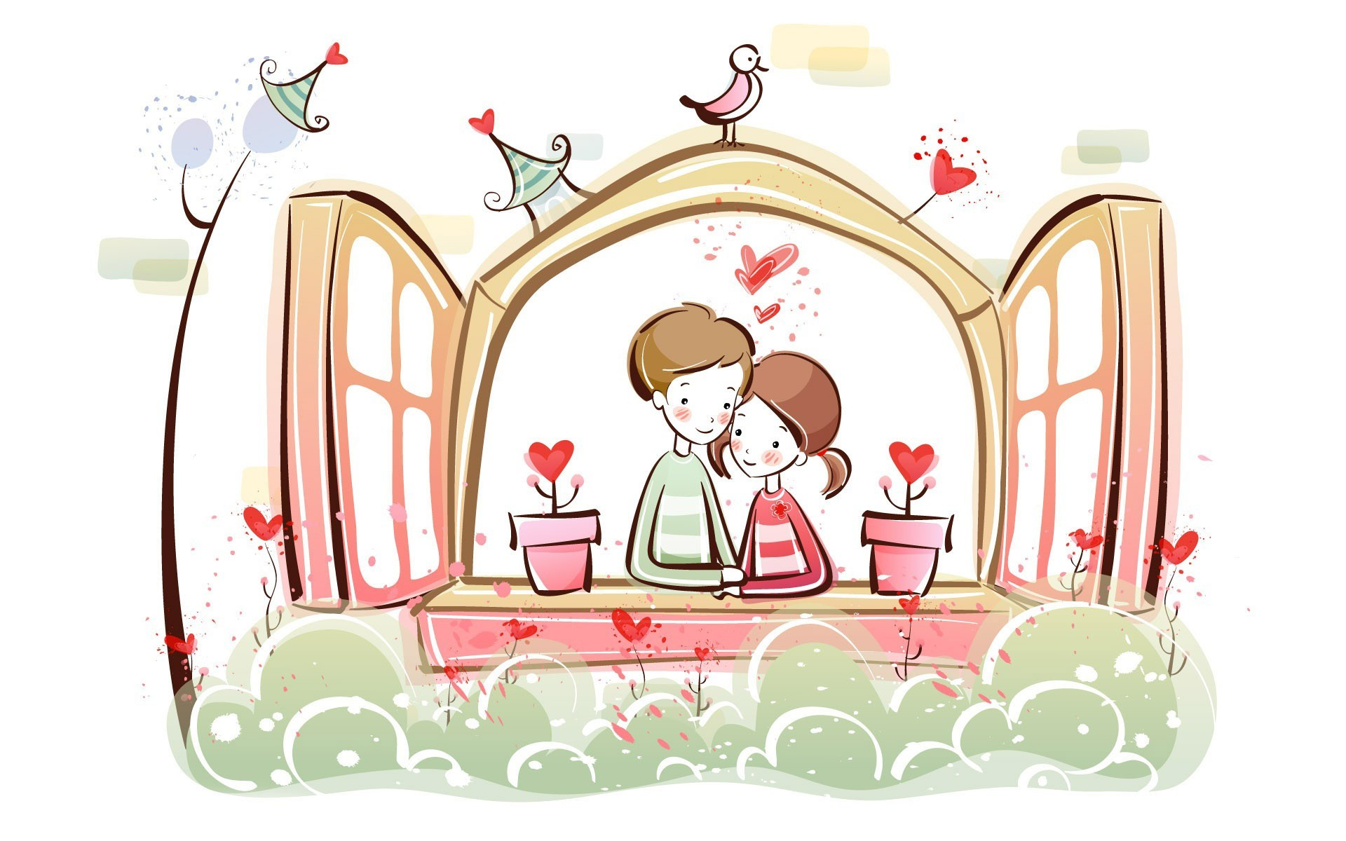 Love Kiss Wallpaper cartoon : cartoon Love Wallpaper - Wallpaper, High Definition, High Quality, Widescreen