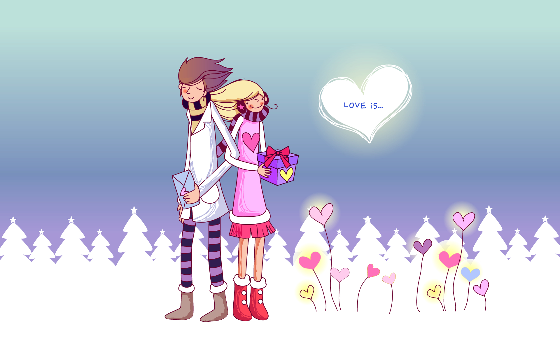 Love Wallpaper For cartoon : Love cartoon Image - Wallpaper, High Definition, High Quality, Widescreen