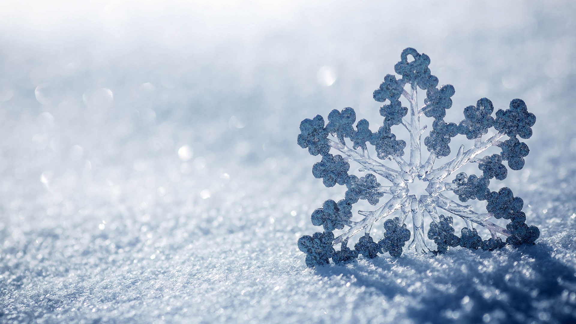 Snowflake background wallpaper high definition high quality snowflake background voltagebd Gallery